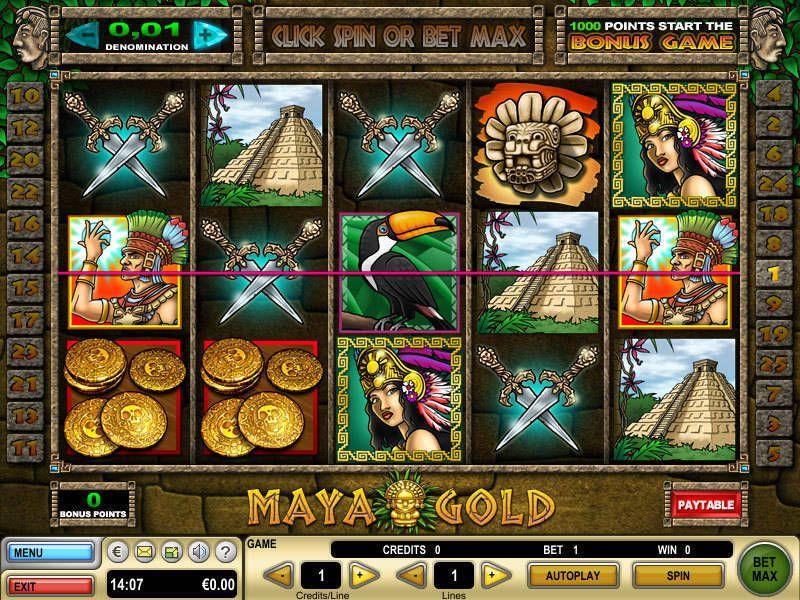 Slot Maya Gold gratis