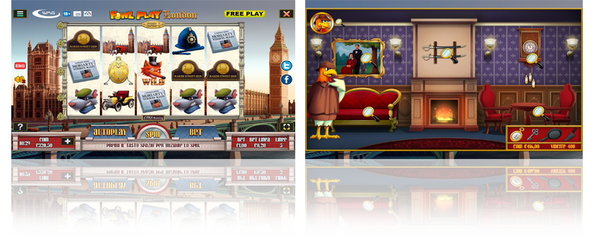 La slot Fowl Play London gratis di wmg