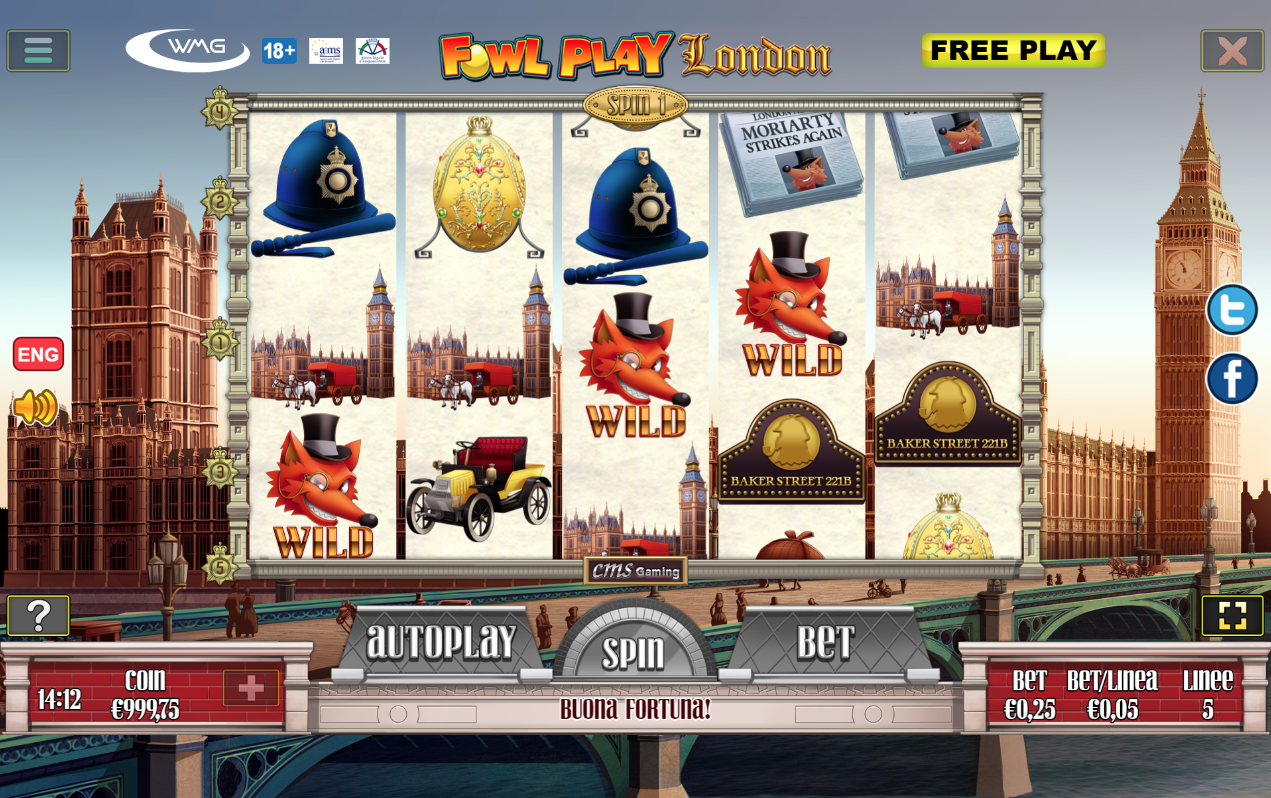 Bonus game slot Fowl Play London