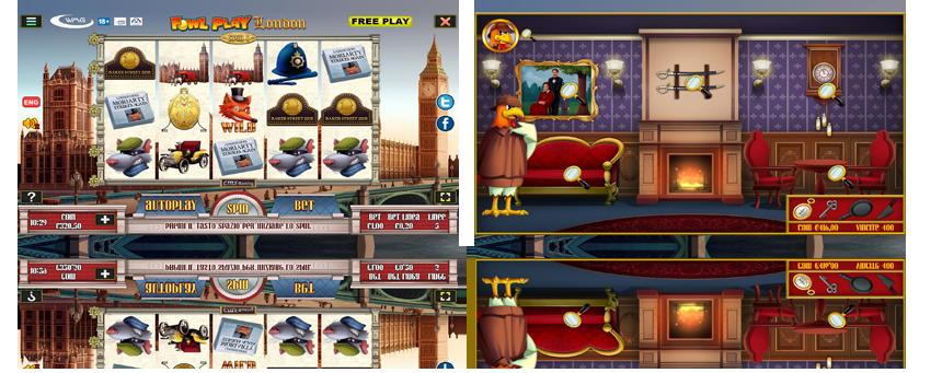 La slot Fowl Play London gratis di wmg