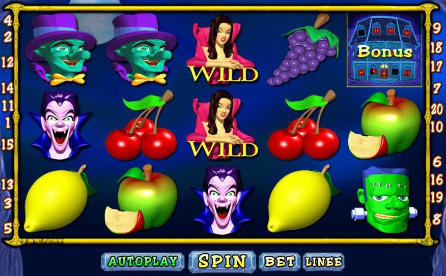 Griglia di gioco Slot Big Ghoulies