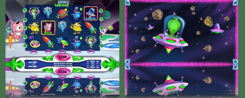 Scheda di gioco slot Lucky Aliens