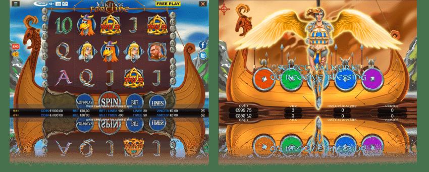 Griglia di gioco Vikings Fortunes Wmg